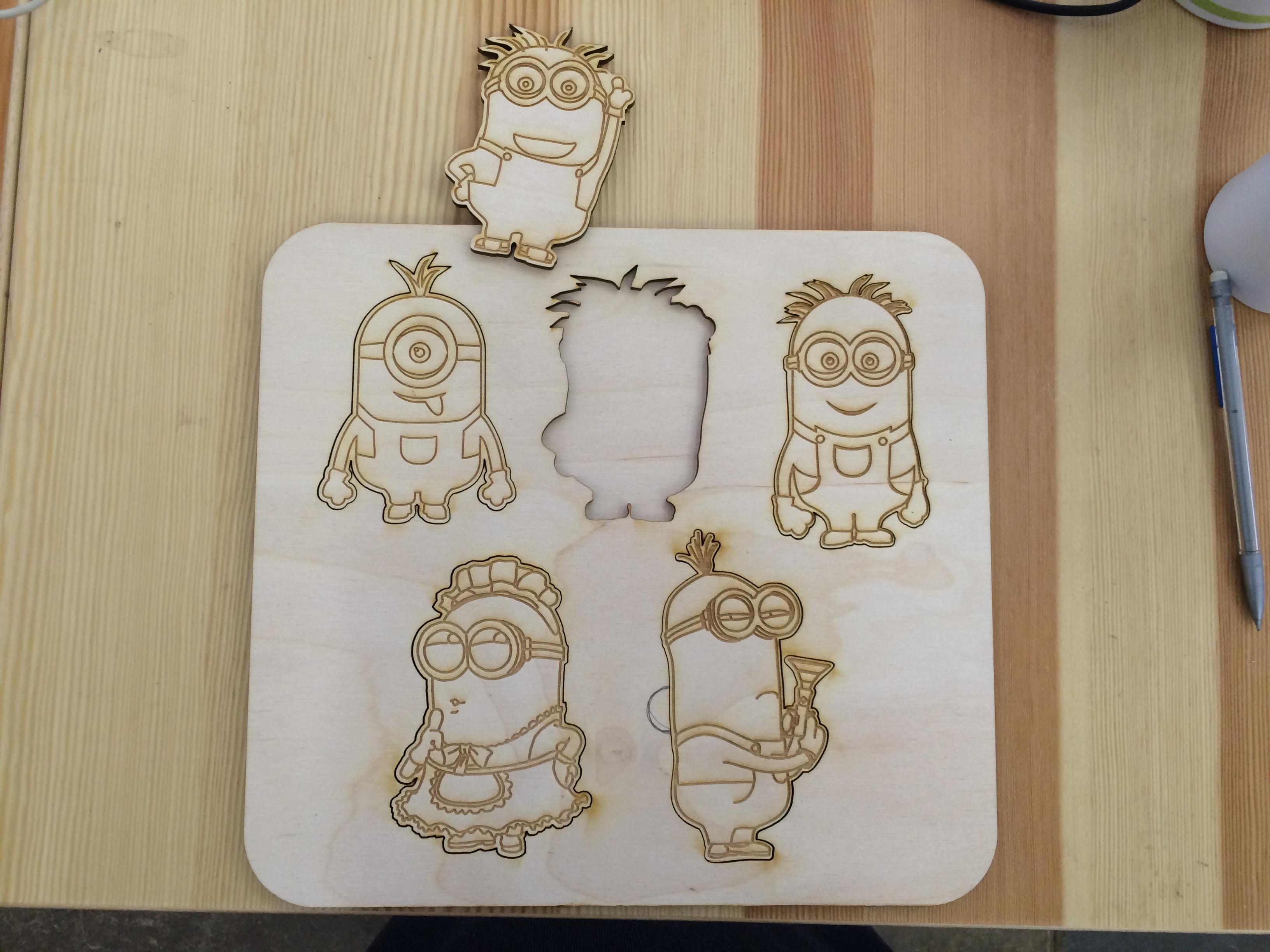 Minions. Миньоны, деревянный пазл на заказ. made by Make