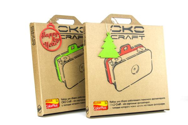 OKO Craft конструктор для сборки работающего фотоаппарата из картона