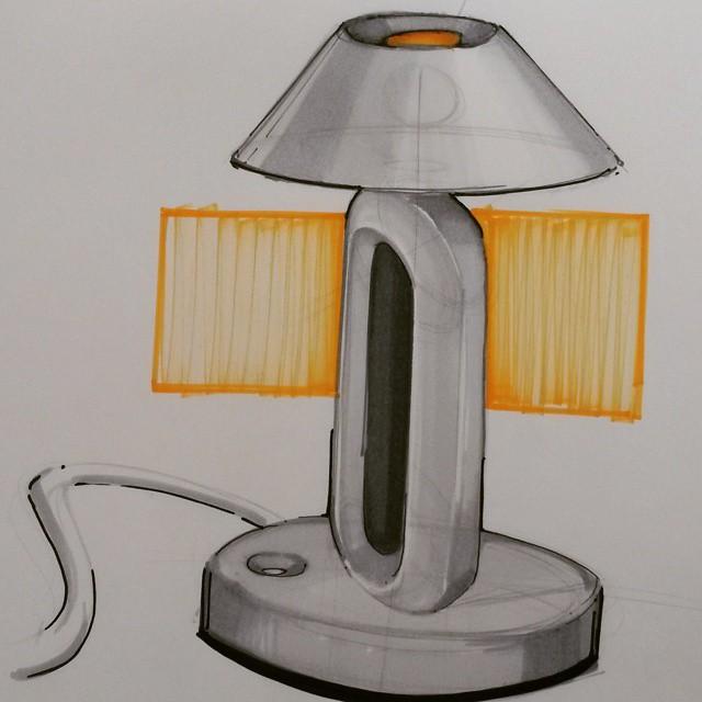 Скетчинг. Лампа