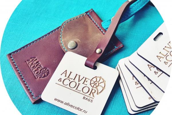 Деревянные этикетки для бренда Alive&Color
