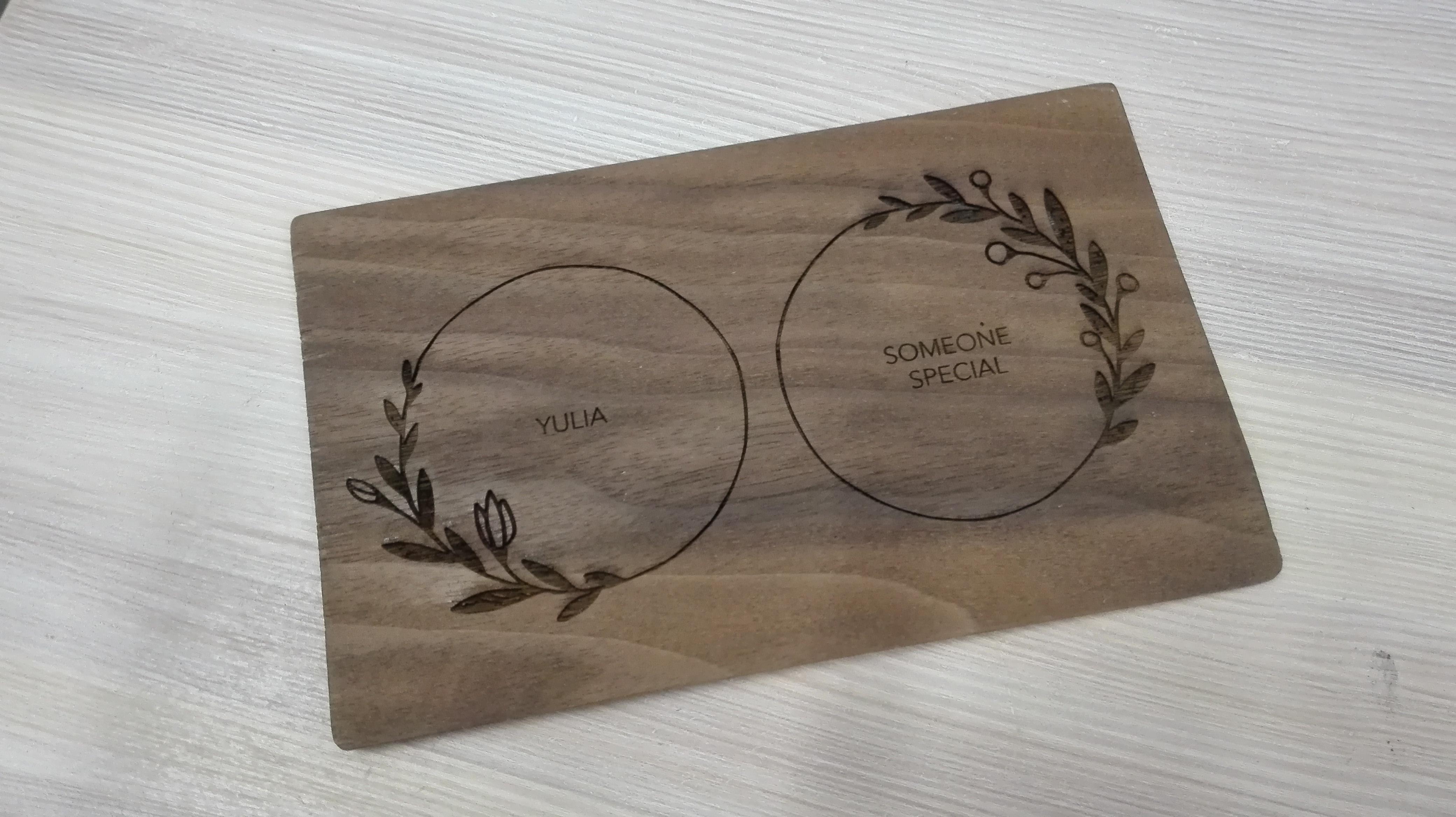 деревянные свадебные приглашения
